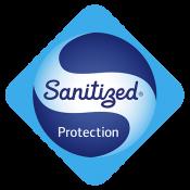 Logo Sanitized - traité antibactérien - compact proctection