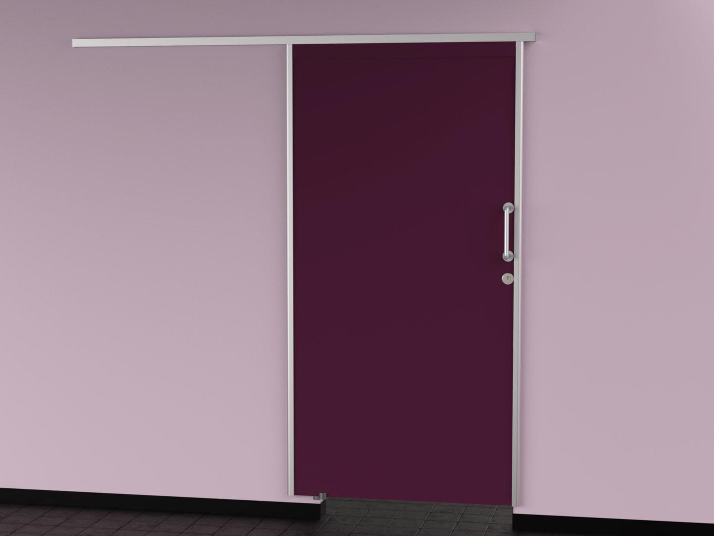 porte coulissante 39 coolineo 39 sur mur cabineo. Black Bedroom Furniture Sets. Home Design Ideas