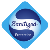 Logo Sanitized - traité antibactérien - compact proctection