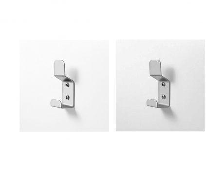 Accessoires cabines patères acier et inox