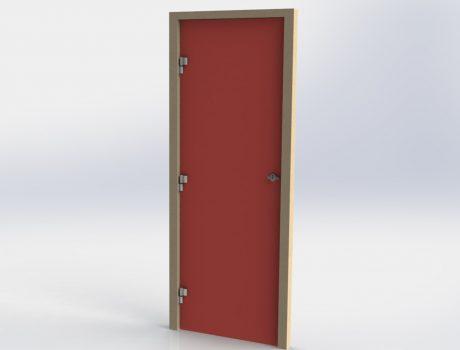 Porte huisserie eco paumelle et verrou cabineo