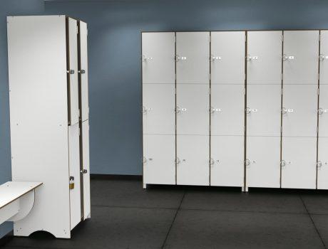 Casiers salle de sport blanc - cabineo