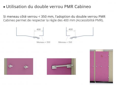Cabines INTIMEO - Double verrou PMR - Regle 400mm