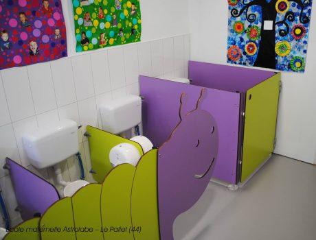 Cloisonnette CHENILLE, écrans maternelles CUBO et cabine ANIMEO - Ecole maternelle Astrolabe - Le Pallet (44) - 2