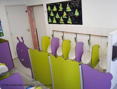 Cloisonnette CHENILLE, écrans maternelles CUBO et cabine ANIMEO - Ecole maternelle Astrolabe - Le Pallet (44) - 3