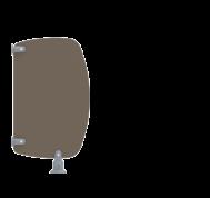 Séparation d'urinoirs maternelles SU600P - Cabineo
