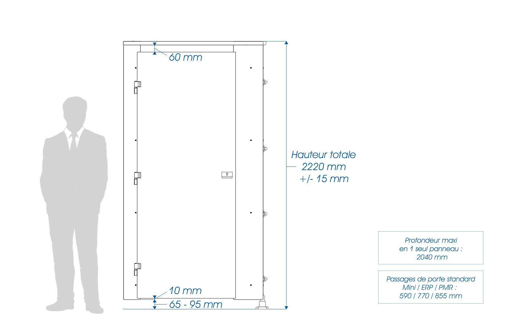 Élévation cabines VISEO