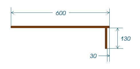 Plan et retombée - dimensions
