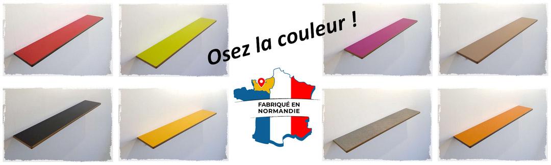 Bannière couleurs tablettesurmesure - Fabriqué en Normandie
