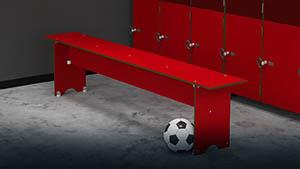 Bancs en compact - Vestiaires de salles de sport, ... - Cabineo