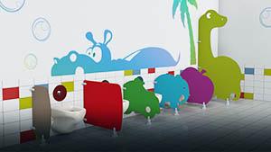 Ecrans maternelles - Sanitaires périscolaire, petite enfance ... - Cabineo