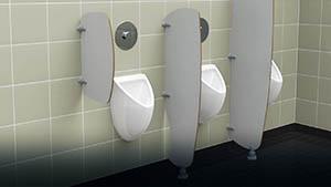 Séparations d'urinoirs - Locaux publics, ... - Cabineo