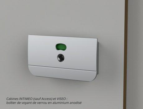 Boîtier de voyant de verrou - cabines INTIMEO (sauf Access) et VISEO