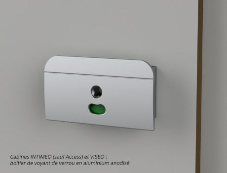 Boîtier de voyant de verrou inversé - cabines INTIMEO (sauf Access) et VISEO