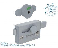 Verrou coulissant - boîtier de voyant en résine armée de fibre de verre sur PRIMEO, INTIMEO Access et SCOLA2.5