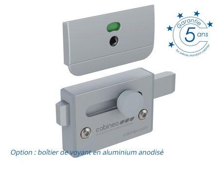 Verrou coulissant - option boîtier aluminium sur PRIMEO, INTIMEO Access et SCOLA2.5