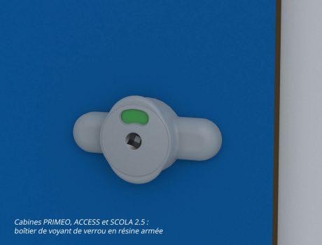 Boîtier de voyant de verrou - cabines PRIMEO, ACCESS et SCOLA 2.5