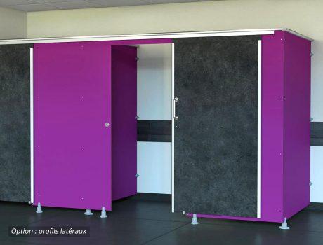 Porte COOLINEO sur cabine - option profils latéraux