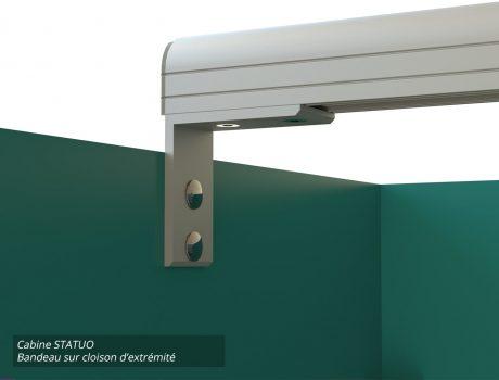 Cabines STATUO - G120 - E026 - 4-3 Bandeau sur cloison d'extrémité-min