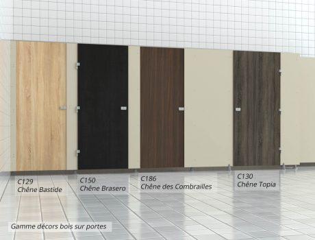 Décors bois sur porte - chênes - C129 - C150 - C186 - C130 - Cabineo