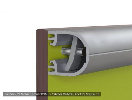 Bandeau de façade profil PROMU - Cabineo