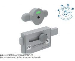 Verrou coulissant - boîtier de voyant polyamide - PRIMEO, ACCESS et SCOLA 2.5 +garantie